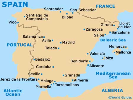 Map Of Spain Showing Salou.Salou Maps And Orientation Salou Catalonia Spain