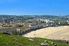 View of the beachfront at St. Ives