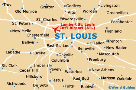 St Louis Maps And Orientation St Louis Missouri MO USA - Missouri in usa map