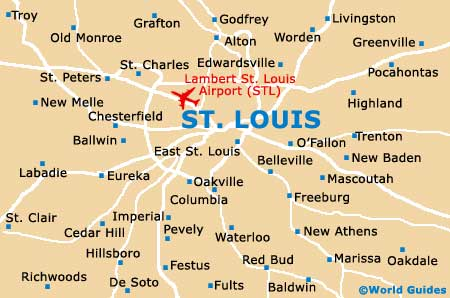 Map Of Lambert St Louis Airport STL Orientation And Maps For - Map of us st louis