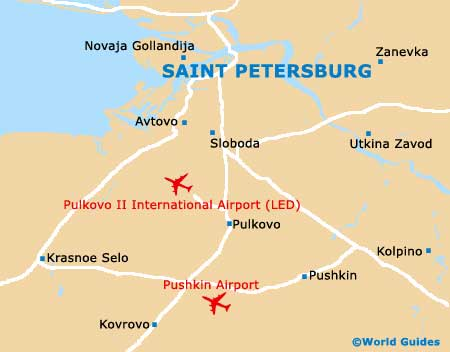 Small St. Petersburg Map