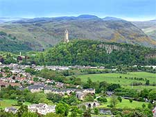 View of Stirling's famous Wallace Monument, photo by Robert Breuer