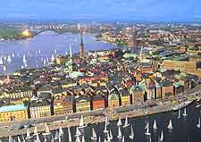View showing the Old Town (Gamla Stan)
