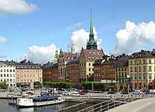 View of the historic Gamla Stan area