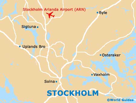 Stockholm Maps And Orientation Stockholm County Sweden - Sweden map airports