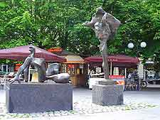 Picture of sculptures in Ostermalm