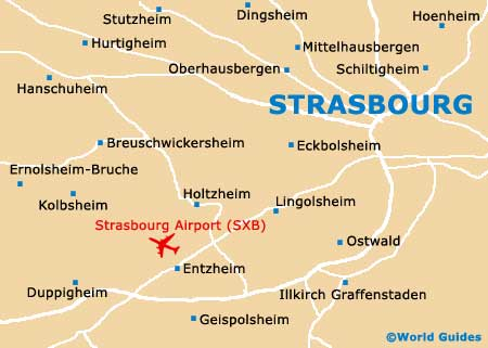 Map of Strasbourg Airport SXB Orientation and Maps for SXB