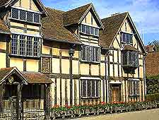 Photo of the much-visited Shakespeare's Birthplace
