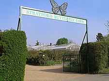 Photo showing the Butterfly Farm entrance