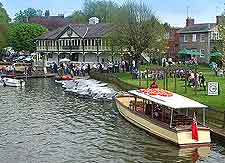 View of boat trips on the River Avon