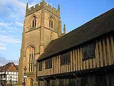 Guild Chapel image, showing the Almshouses