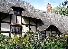 Close-up picture of Anne Hathaway's Cottage