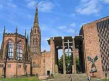 Image of Coventry's adjacent cathedrals, old and new
