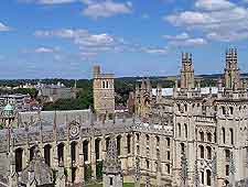 Aerial view of the Oxford architecture