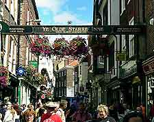 Photo of tourists in the town centre