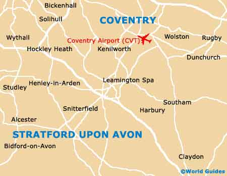 Coventry Airport map