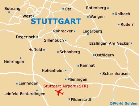 Stuttgart Maps and Orientation: Stuttgart, Baden Wurttemberg, Germany