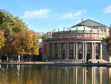 View of the waterfront State Theatre (Staatstheater) on the Oberer Schlossgarten