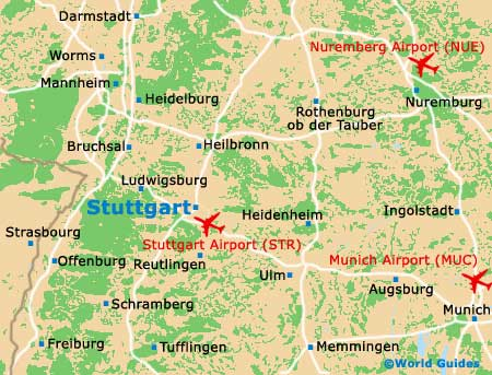 Map Of Stuttgart Airport STR Orientation And Maps For STR - Germany map airports