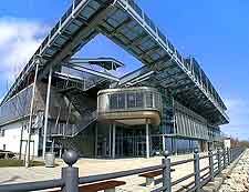 Photograph showing the modern architecture at the National Glass Centre