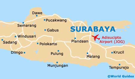 Surabaya Maps and Orientation Surabaya East Java Indonesia