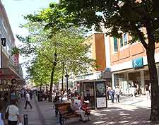 Picture of the shops in the city centre