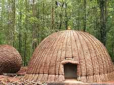 Photograph of traditional domed grass huts