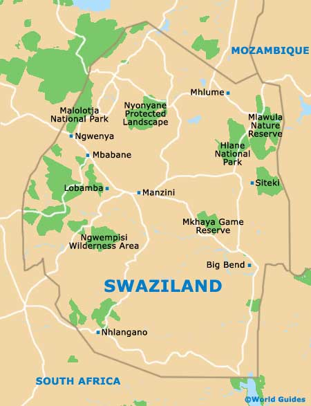 Small Swaziland Map