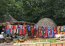 Photo of traditional grass huts in Mbabane