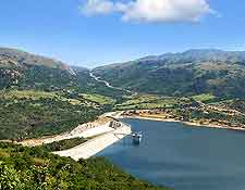 Picture showing the Maguga Dam at Piggs Peak