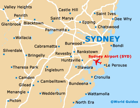 Sydney Map Of Australia.Sydney Maps And Orientation Sydney New South Wales Nsw