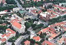 Aerial view of Békéscsaba