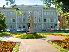 Photo of central building and statue