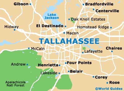 Tallahassee Maps and Orientation: Tallahassee, Florida - FL, USA