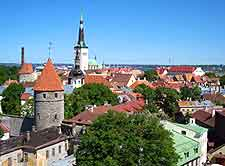 Tallinn Airport (TLL) Information: Photo of the city from above
