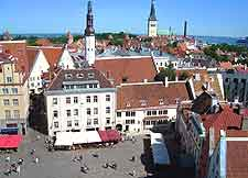 Tallinn Airport (TLL) Hotels: Aerial image of the Old Town Square