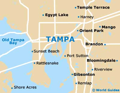 on city map of tampa florida