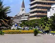 Image of contrasting architecture in Dar es Salaam
