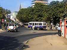 Photo of cars and bus in Dar es Salaam