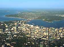 Aerial view of Dar es Salaam