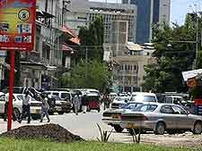 Image of traffic in downtown Dar es Salaam