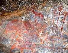 Photo showing some of the ancient Kondoa Irangi Rock Paintings