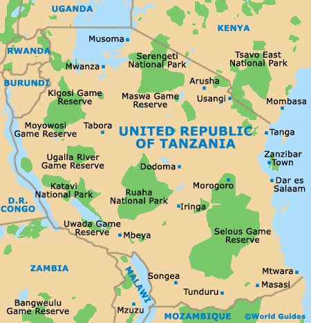 Small Tanzania Map