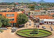 View of roundabout in the city of Morogoro, located in the southern highlands