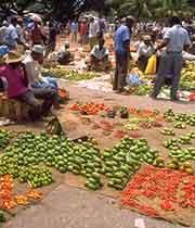 Picture of market in Stone Town, Zanzibar