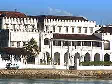 Waterfront view of the Sultan's Palace in Zanzibar