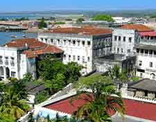 Photograph showing the Sultan's Palace in Zanzibar