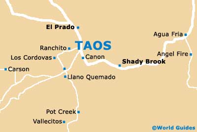 Taos Maps And Orientation Taos New Mexico  NM USA