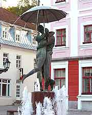 Picture of fountain in the Town Hall Square