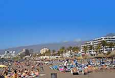 Photo of beachfront on the Spanish island of Tenerife, a popular package holiday destination